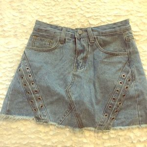 Pants - JEAN DENIM SKORT